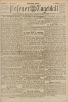 Posener Tageblatt. Jg.60, Nr. 179 (28 September 1921)
