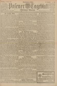 Posener Tageblatt (Posener Warte). Jg.60, Nr. 189 (9 Oktober 1921) + dod.