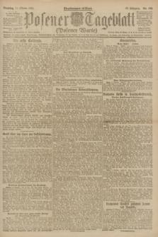 Posener Tageblatt (Posener Warte). Jg.60, Nr. 190 (11 Oktober 1921)