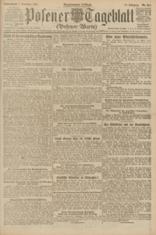 Posener Tageblatt (Posener Warte). Jg.60, Nr. 211 (5 November 1921)