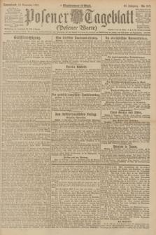 Posener Tageblatt (Posener Warte). Jg.60, Nr. 217 (12 November 1921)