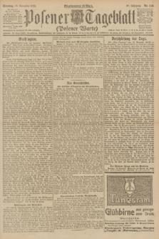 Posener Tageblatt (Posener Warte). Jg.60, Nr. 218 (13 November 1921) + dod.