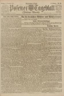 Posener Tageblatt (Posener Warte). Jg.60, Nr. 221 (18 November 1921)