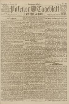 Posener Tageblatt (Posener Warte). Jg.60, Nr. 222 (19 November 1921)
