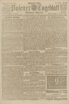 Posener Tageblatt (Posener Warte). Jg.60, Nr. 223 (20 November 1921) + dod.