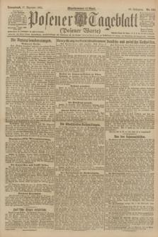 Posener Tageblatt (Posener Warte). Jg.60, Nr. 245 (17 Dezember 1921)