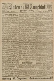Posener Tageblatt (Posener Warte). Jg.60, Nr. 246 (18 Dezember 1921) + dod.