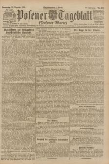 Posener Tageblatt (Posener Warte). Jg.60, Nr. 249 (22 Dezember 1921) + dod.
