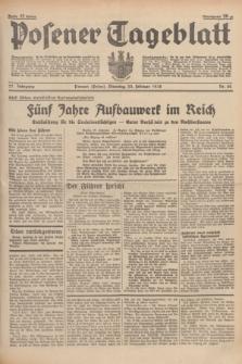Posener Tageblatt. Jg.77, Nr. 42 (22 Februar 1938) + dod.