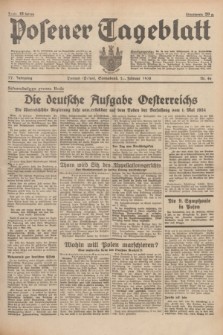 Posener Tageblatt. Jg.77, Nr. 46 (26 Februar 1938) + dod.