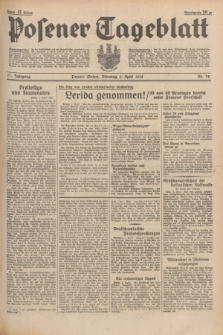 Posener Tageblatt. Jg.77, Nr. 78 (5 April 1938) + dod.