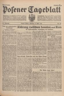 Posener Tageblatt. Jg.77, Nr. 83 (10 April 1938) + dod.