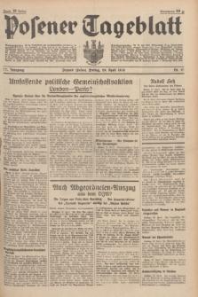 Posener Tageblatt. Jg.77, Nr. 97 (29 April 1938) + dod.