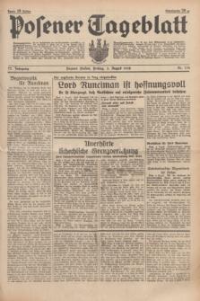 Posener Tageblatt. Jg.77, Nr. 176 (5 August 1938) + dod.