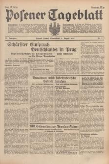 Posener Tageblatt. Jg.77, Nr. 177 (6 August 1938) + dod.