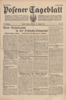 Posener Tageblatt. Jg.77, Nr. 180 (10 August 1938) + dod.