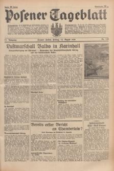Posener Tageblatt. Jg.77, Nr. 182 (12 August 1938) + dod.