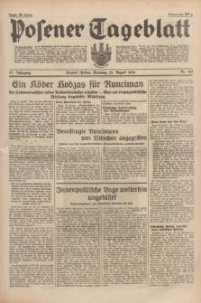 Posener Tageblatt. Jg.77, Nr. 189 (21 August 1938) + dod.
