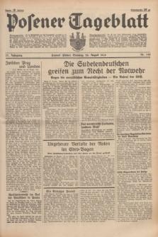Posener Tageblatt. Jg.77, Nr. 195 (28 August 1938) + dod.