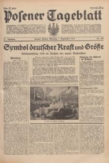 Posener Tageblatt. Jg.77, Nr. 203 (7 September 1938) + dod.