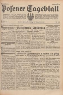 Posener Tageblatt. Jg.77, Nr. 210 (15 September 1938) + dod.