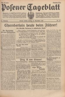 Posener Tageblatt. Jg.77, Nr. 211 (16 September 1938) + dod.