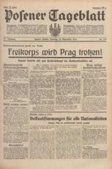 Posener Tageblatt. Jg.77, Nr. 214 (20 September 1938) + dod.