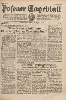 Posener Tageblatt. Jg.77, Nr. 215 (21 September 1938) + dod.