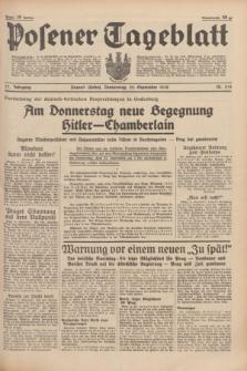 Posener Tageblatt. Jg.77, Nr. 216 (22 September 1938) + dod.
