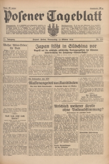 Posener Tageblatt. Jg.77, Nr. 234 (13 Oktober 1938) + dod.