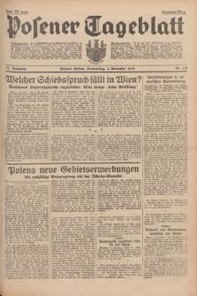 Posener Tageblatt. Jg.77, Nr. 251 (3 November 1938) + dod.