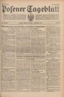 Posener Tageblatt. Jg.77, Nr. 254 (6 November 1938) + dod.