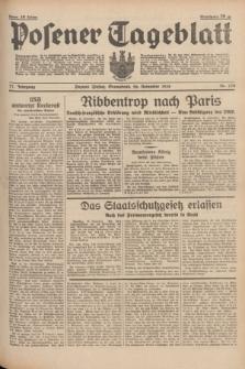 Posener Tageblatt. Jg.77, Nr. 270 (26 November 1938) + dod.