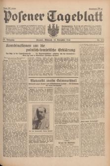 Posener Tageblatt. Jg.77, Nr. 273 (30 November 1938) + dod.