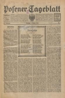 Posener Tageblatt. Jg.72, Nr. 1 (1 Januar 1933) + dod.