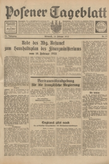 Posener Tageblatt. Jg.72, Nr. 37 (15 Februar 1933) + dod.