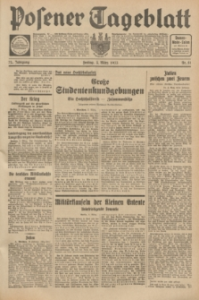 Posener Tageblatt. Jg.72, Nr. 51 (3 März 1933) + dod.