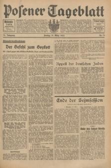 Posener Tageblatt. Jg.72, Nr. 75 (31 März 1933) + dod.