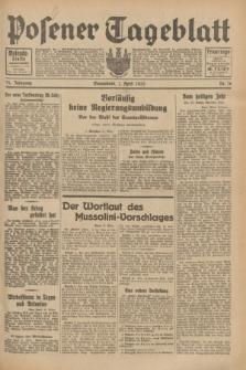 Posener Tageblatt. Jg.72, Nr. 76 (1 April 1933) + dod.