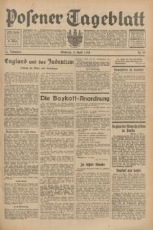 Posener Tageblatt. Jg.72, Nr. 77 (2 April 1933) + dod.