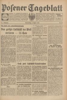 Posener Tageblatt. Jg.72, Nr. 80 (6 April 1933) + dod.