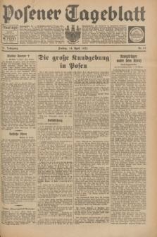 Posener Tageblatt. Jg.72, Nr. 87 (14 April 1933) + dod.