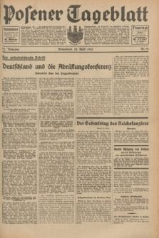 Posener Tageblatt. Jg.72, Nr. 92 (22 April 1933) + dod.