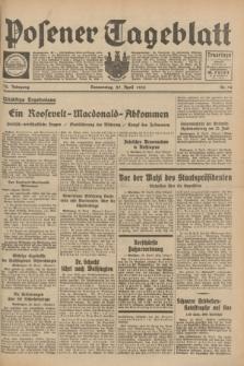 Posener Tageblatt. Jg.72, Nr. 96 (27 April 1933) + dod.