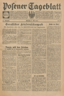 Posener Tageblatt. Jg.72, Nr. 150 (5 Juli 1933) + dod.