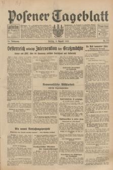 Posener Tageblatt. Jg.72, Nr. 176 (4 August 1933) + dod.