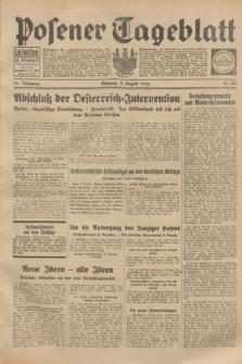 Posener Tageblatt. Jg.72, Nr. 180 (9 August 1933) + dod.