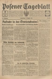 Posener Tageblatt. Jg.72, Nr. 186 (17 August 1933) + dod.