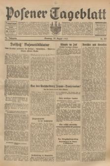 Posener Tageblatt. Jg.72, Nr. 189 (20 August 1933) + dod.