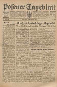 Posener Tageblatt. Jg.72, Nr. 212 (16 September 1933) + dod.